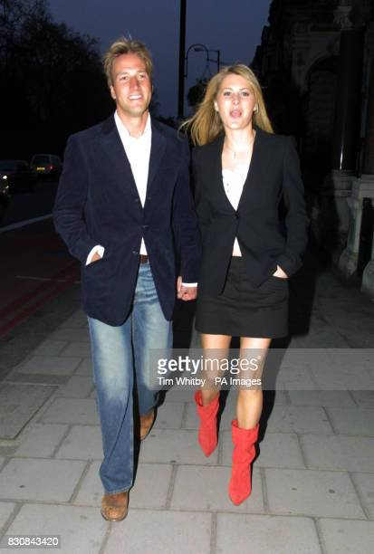Ben Fogle arrives at Il Bottaccio in London to launch the Givenchy Pour Homme fragrance