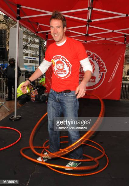 Ben Fogle attends photocall to launch Sports Relief's nationwide Hula Hoop Campaign at Leicester Square on January 29 2010 in London England