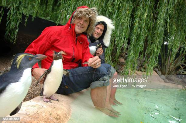 Ben Fogle James Cracknell attend a photocall to announce their forthcoming expedition to the South Pole in London Zoo's Penguin enclosure central...
