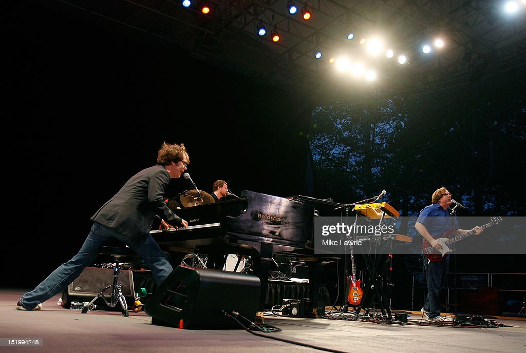Ben Folds Five performs at SummerStage at Rumsey Playfield, Central Park on September 14, 2012 in New York City.