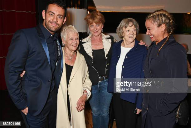 Ben Forster Dame Judi Dench Samantha Bond Dame Maggie Smith and Tamzin Outhwaite attend the Acting For Others Presidential Awards at The Crazy Coqs...