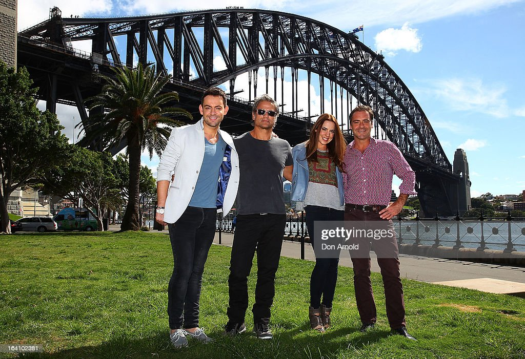 Ben Forster, Jon Stevens, Melanie C and <a gi-track='captionPersonalityLinkClicked' href=/galleries/search?phrase=Andrew+O%27Keefe&family=editorial&specificpeople=707895 ng-click='$event.stopPropagation()'>Andrew O'Keefe</a> from the cast of Jesus Christ Superstar poses for media at Hicksons Road Reserve in The Rocks, on March 20, 2013 in Sydney, Australia.