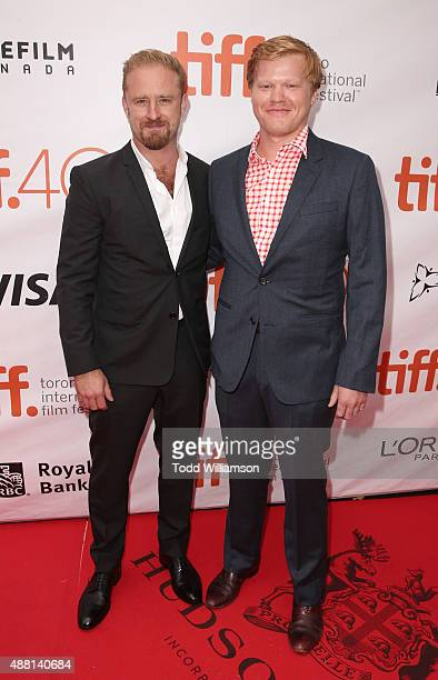 Ben Foster and Jesse Plemons attend the 2015 Toronto International Film Festival 'The Program' Premiere at Roy Thomson Hall on September 13 2015 in...