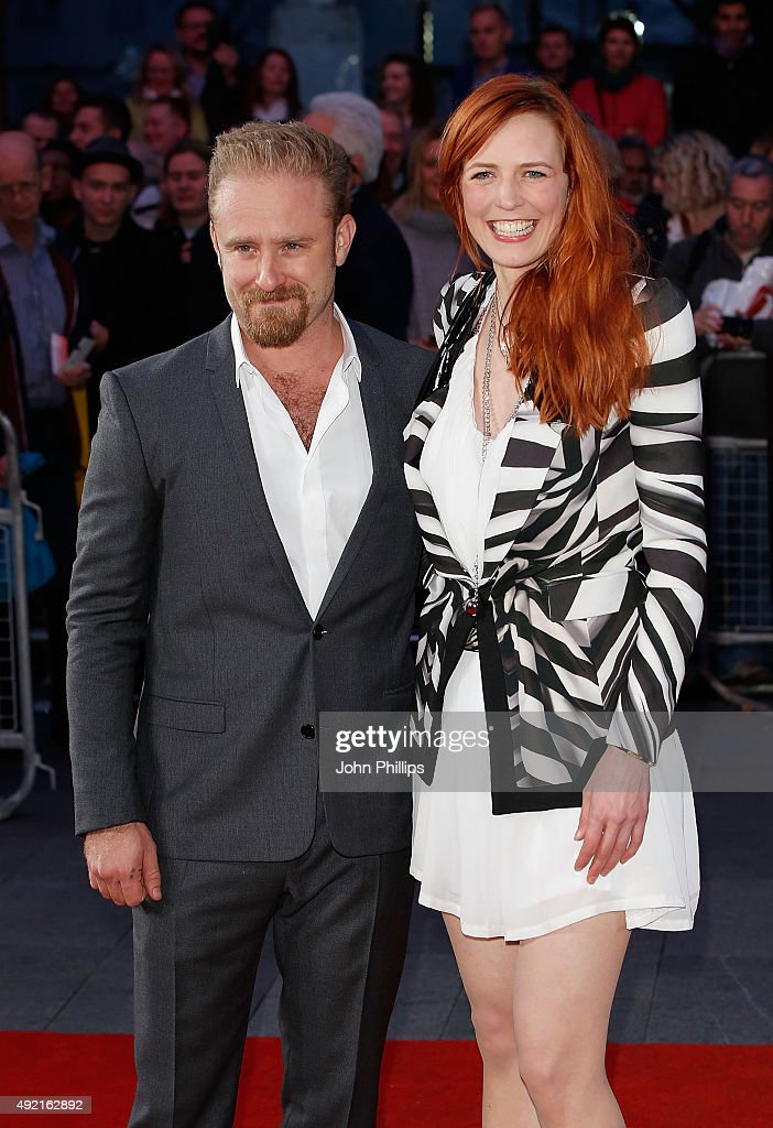 Ben Foster and Kari Kleiv attend the 'The Program' screening, during the BFI London Film Festival, at Vue Leicester Square on October 10, 2015 in London, England.