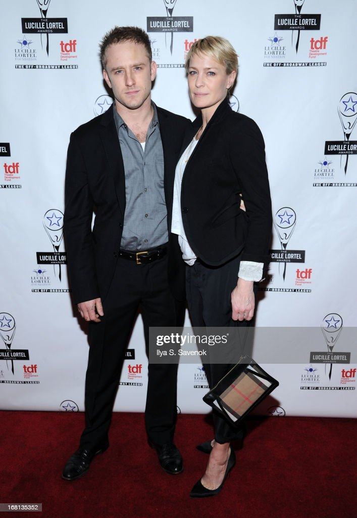 Ben Foster and <a gi-track='captionPersonalityLinkClicked' href=/galleries/search?phrase=Robin+Wright&family=editorial&specificpeople=207147 ng-click='$event.stopPropagation()'>Robin Wright</a> attend the 28th Annual Lucille Lortel Awards at NYU Skirball Center on May 5, 2013 in New York City.