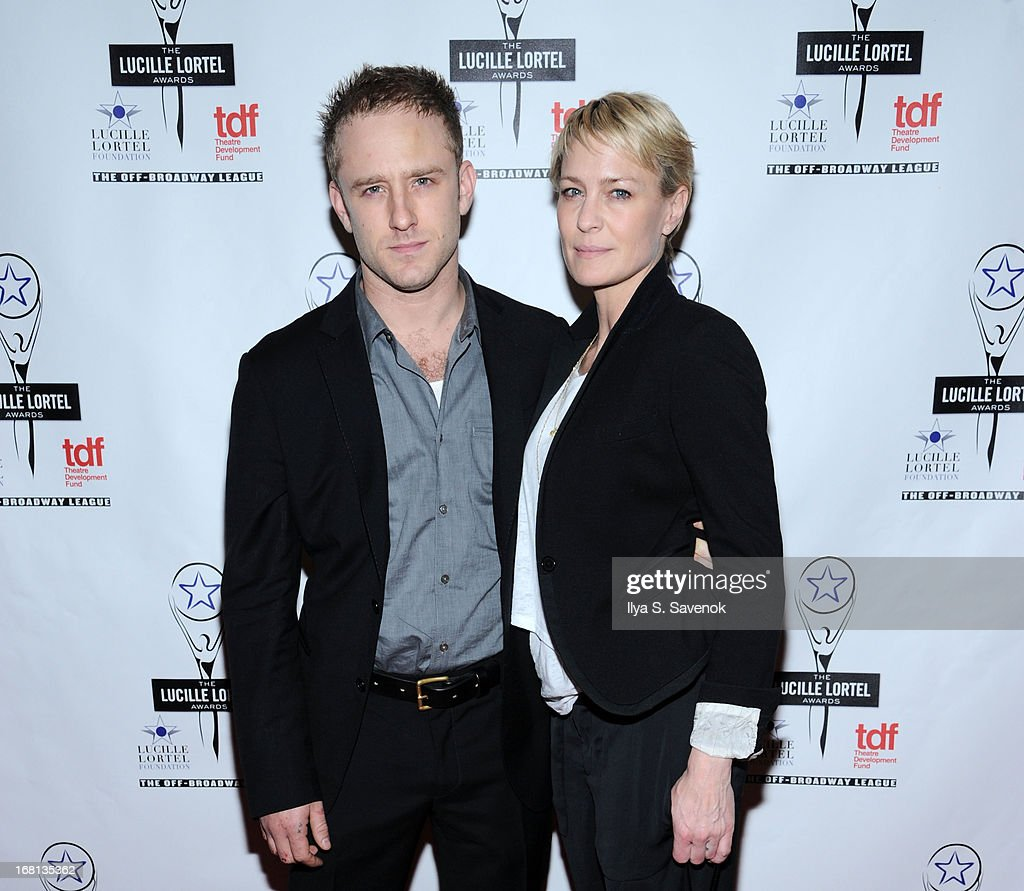 Ben Foster and Robin Wright attend the 28th Annual Lucille Lortel Awards at NYU Skirball Center on May 5, 2013 in New York City.