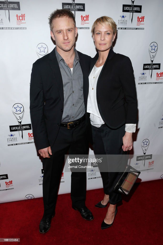 Ben Foster and <a gi-track='captionPersonalityLinkClicked' href=/galleries/search?phrase=Robin+Wright&family=editorial&specificpeople=207147 ng-click='$event.stopPropagation()'>Robin Wright</a> attend the 28th Annual Lucille Lortel Awards on May 5, 2013 in New York City.