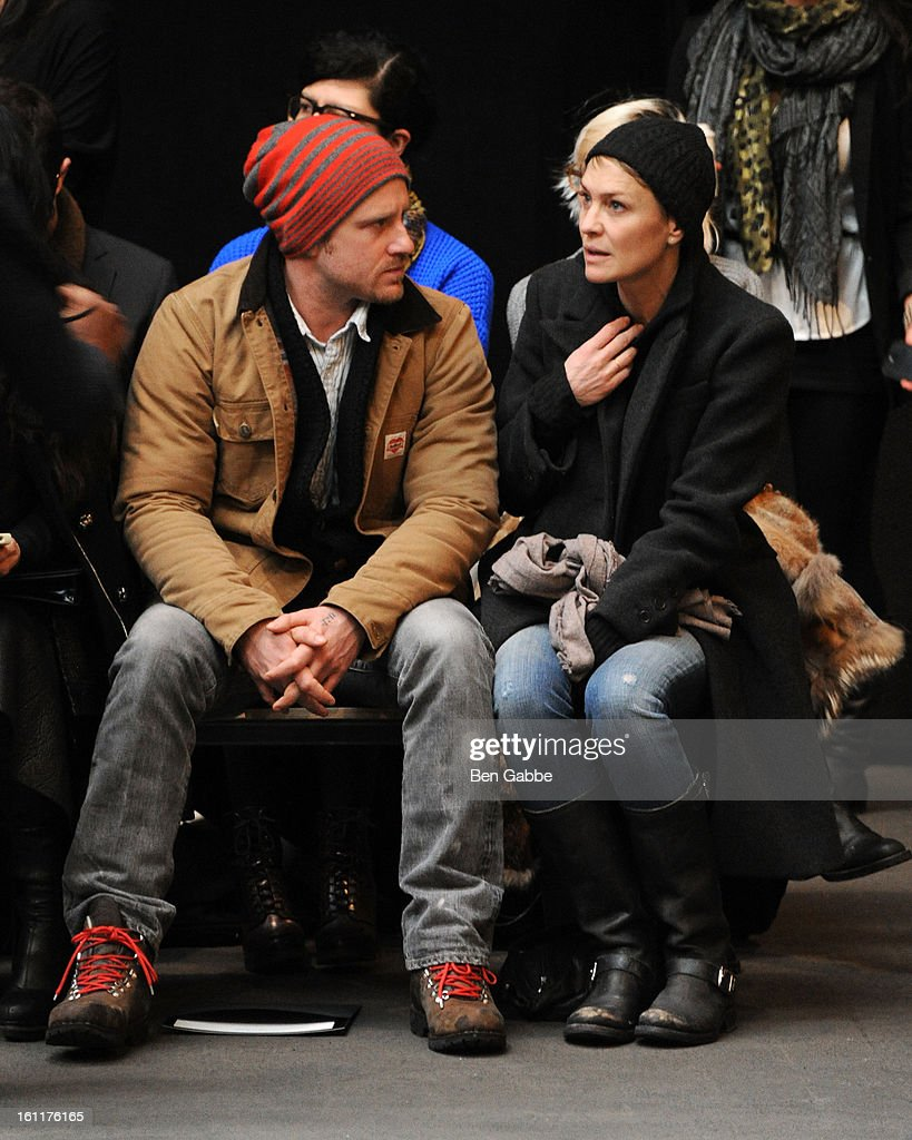 Ben Foster and <a gi-track='captionPersonalityLinkClicked' href=/galleries/search?phrase=Robin+Wright&family=editorial&specificpeople=207147 ng-click='$event.stopPropagation()'>Robin Wright</a> attend the Jen Kao fall 2013 fashion show during Mercedes-Benz Fashion Week at Skylight Studios at Moynihan Station on February 9, 2013 in New York City.