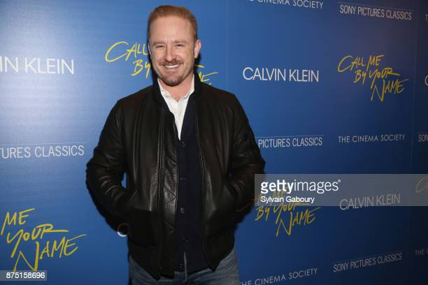 Ben Foster attends Calvin Klein and The Cinema Society host a screening of Sony Pictures Classics' 'Call Me By Your Name' on November 16 2017 in New...