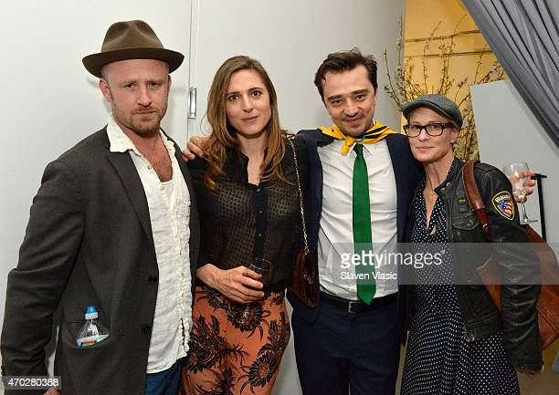 Ben Foster Cosima Spender Valerio Bonelli and Robin Wright attend the after party for the World Premiere of 'Palio' at DIA Chelsea on April 18 2015...