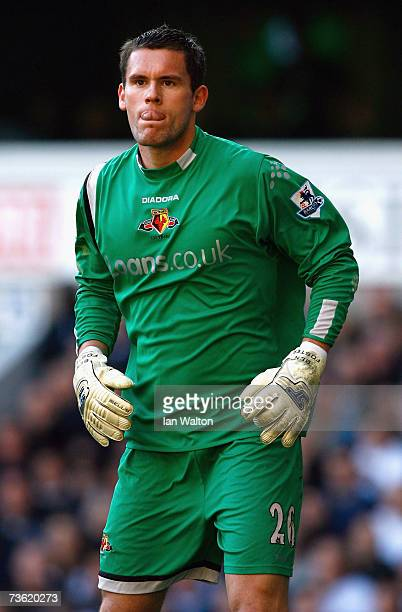 Ben Foster of Watford looks on during the Barclays Premiership match between Tottenham Hotspur and Watford at White Hart Lane on March 17 2007 London...