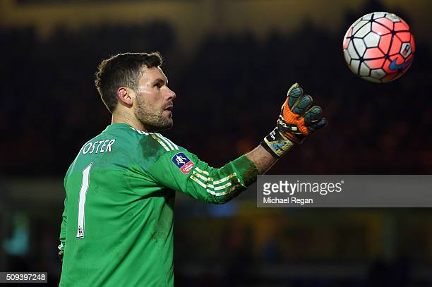 Ben Foster of West Bromwich Albion catches the ball during the Emirates FA Cup fourth round replay match between Peterborough United and West...
