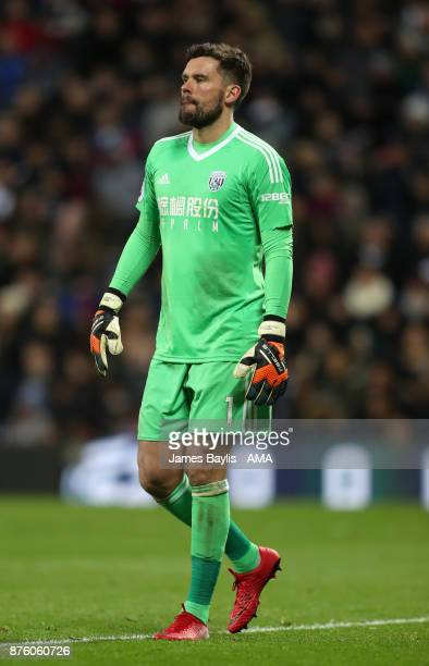 Ben Foster of West Bromwich Albion during the Premier League match between West Bromwich Albion and Chelsea at The Hawthorns on November 18 2017 in...