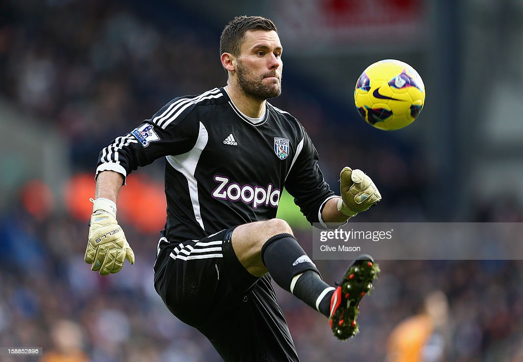 Ben Foster of West Bromwich Albion in action during the Barclays Premier League match between West Bromwich Albion and Fulham at The Hawthorns, on January 1, 2013 in West Bromwich, England.