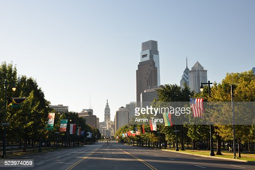 Ben Franklin Parkway in Philadelphia