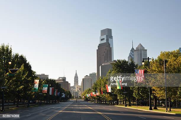 Ben Franklin Parkway in Philadelphia