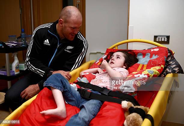 Ben Franks of the New Zealand All Blacks visits the Laura Lynn Hospice for Children on November 20 2013 in Dublin Ireland