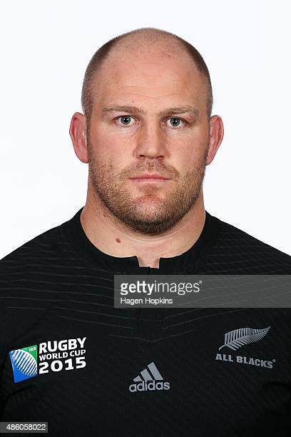 Ben Franks poses during the New Zealand All Blacks World Cup headshots and portrait session on August 31 2015 in Wellington New Zealand