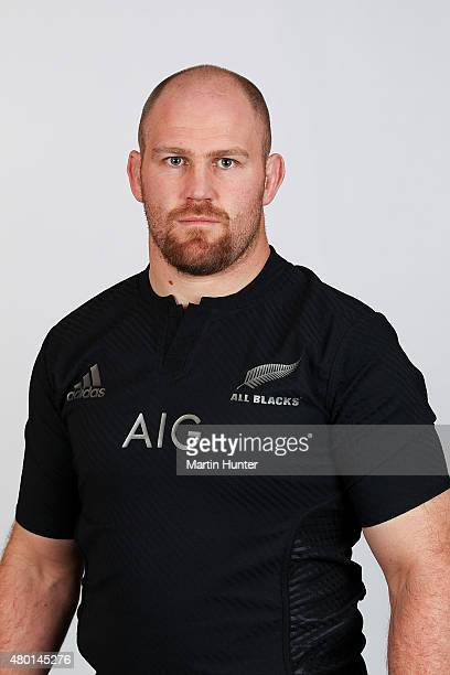 Ben Franks poses for a portrait during the New Zealand All Blacks headshots session at The George Hotel on July 10 2015 in Christchurch New Zealand