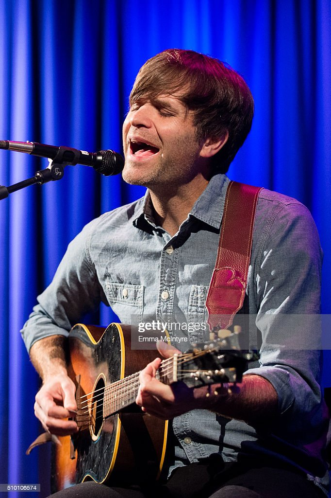 Ben Gibbard of Death Cab for Cutie performs onstage at the Grammy KROQ Party at The GRAMMY Museum on February 13, 2016 in Los Angeles City.