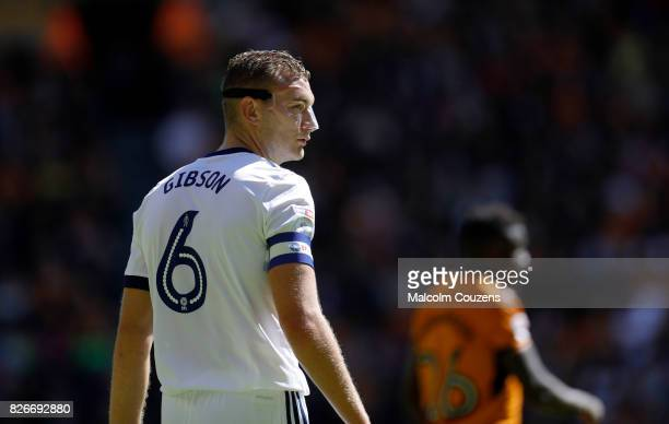 Ben Gibson of Middlesbrough during the Sky Bet Championship match between Wolverhampton Wanderers and Middlesbrough at Molineux on August 5 2017 in...