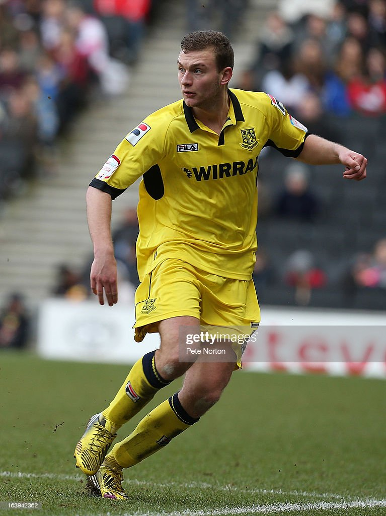 Ben Gibson of Tranmere Rovers in action during the npower League One match between MK Dons and Tranmere Rovers at Stadium MK on March 16, 2013 in Milton Keynes, England.