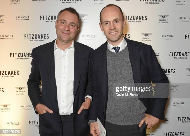 Ben Goldsmith and Balthazar Fabricius attend the Fitzdares Fighting Futures event an invitation only evening of amateur boxing at The Ned on November...