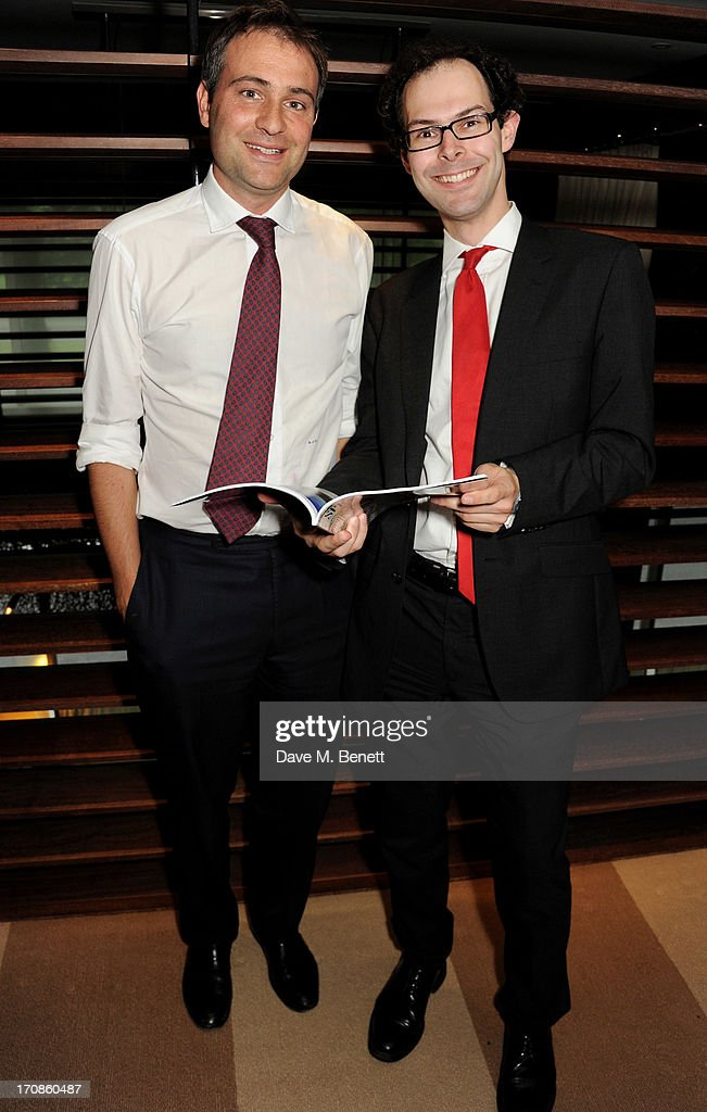 Ben Goldsmith and Editor of Spear's Josh Spero attend the launch of Spear's Magazine issue 33 guestedited by Ben Goldsmith at 45 Park Lane on June 19...