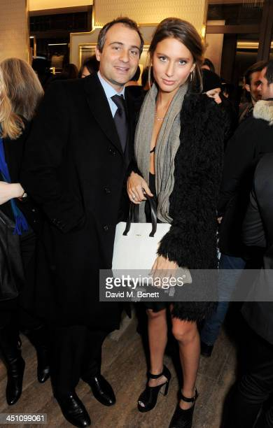 Ben Goldsmith and Jemima Jones attend the Furla flagship store reopening on November 21 2013 in London England