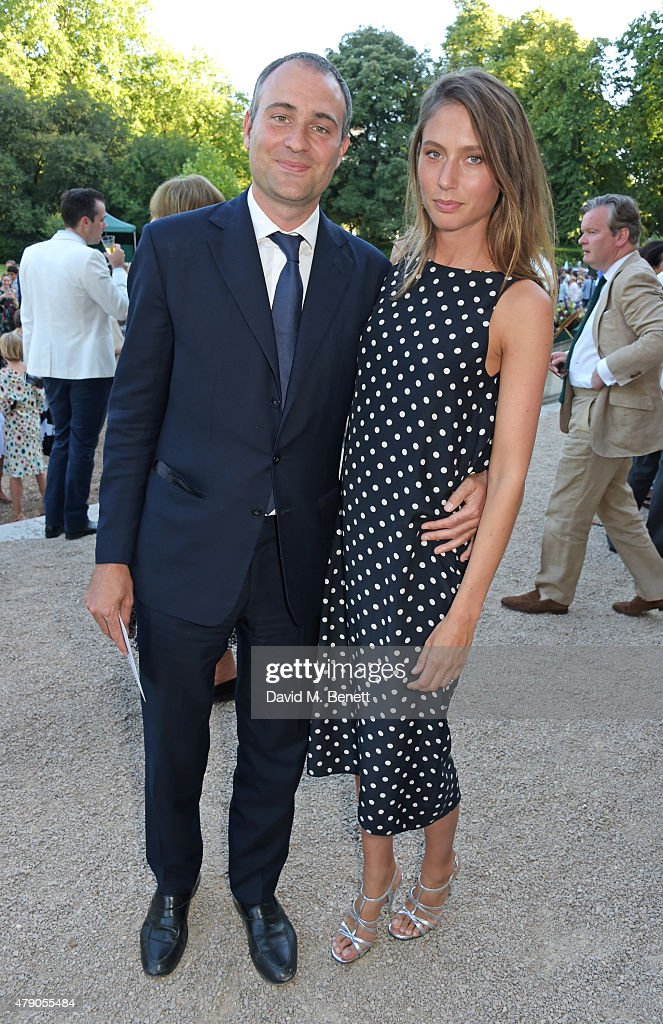 Ben Goldsmith and Jemima Jones attend the Quintessentially Foundation and Elephant Family's Royal Rickshaw Auction presented by Selfridges at...