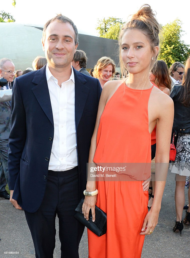 Ben Goldsmith and Jemima Jones attend The Serpentine Gallery Summer Party cohosted by Brioni at The Serpentine Gallery on July 1 2014 in London...