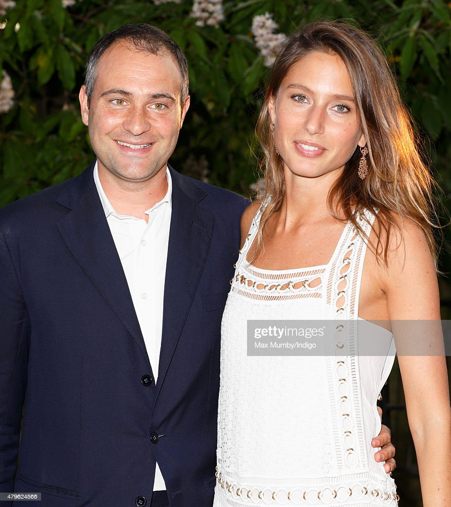 Ben Goldsmith and Jemima Jones attend the Serpentine Gallery Summer Party at The Serpentine Gallery on July 2 2015 in London England