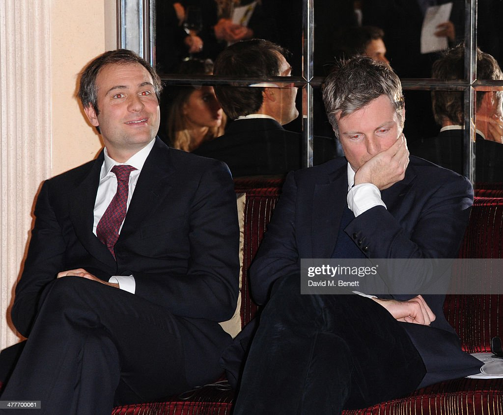 Ben Goldsmith and Zac Goldsmith attends the Pig Pledge fundraiser to boycott meat from animal factories hosted by Tracy Worcester at No 41 Mayfair on...