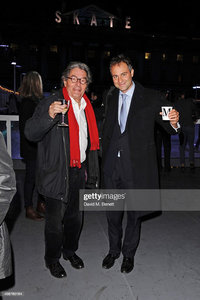 Ben Goldsmith attends the opening party of Skate at Somerset House with Fortnum Mason at Somerset House on November 10 2014 in London England The...