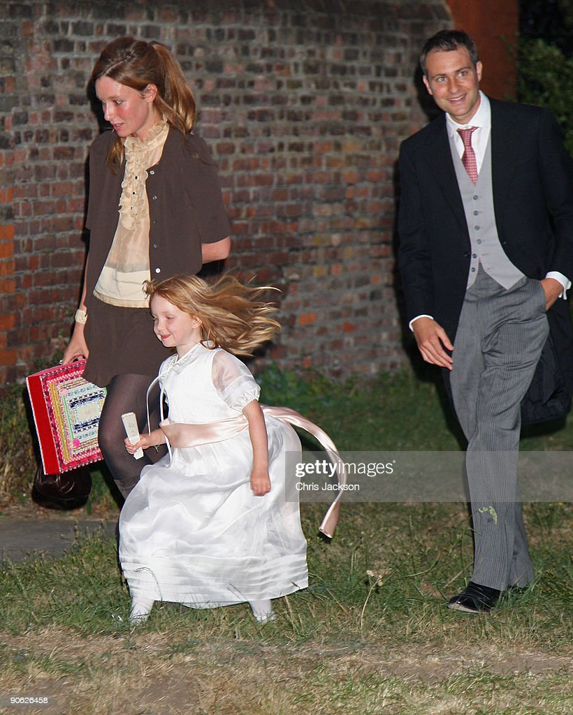 Ben Goldsmith Kate Goldsmith and Iris Goldsmith arrive back from the wedding of Lord Fredrick Windsor and Sophie Winkleman for a reception at Lady...