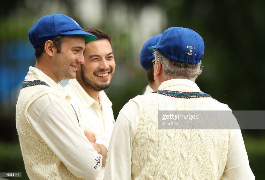 Ben Goldsmith looks on during the Flannels For Heroes Charity Cricket Event at Burton Court on June 15 2012 in London England