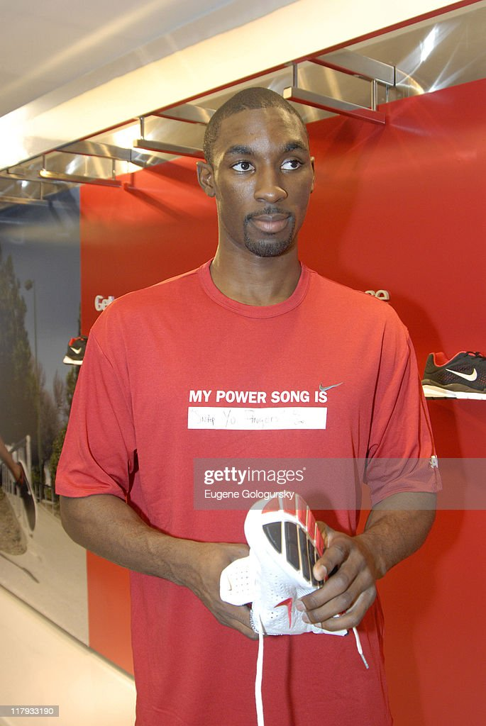 <a gi-track='captionPersonalityLinkClicked' href=/galleries/search?phrase=Ben+Gordon&family=editorial&specificpeople=202181 ng-click='$event.stopPropagation()'>Ben Gordon</a> during Star Athletes Converge on Niketown for Retail Debut of Nike + iPod Sports Kit - July 13, 2006 at Niketown in New York City, New York, United States.