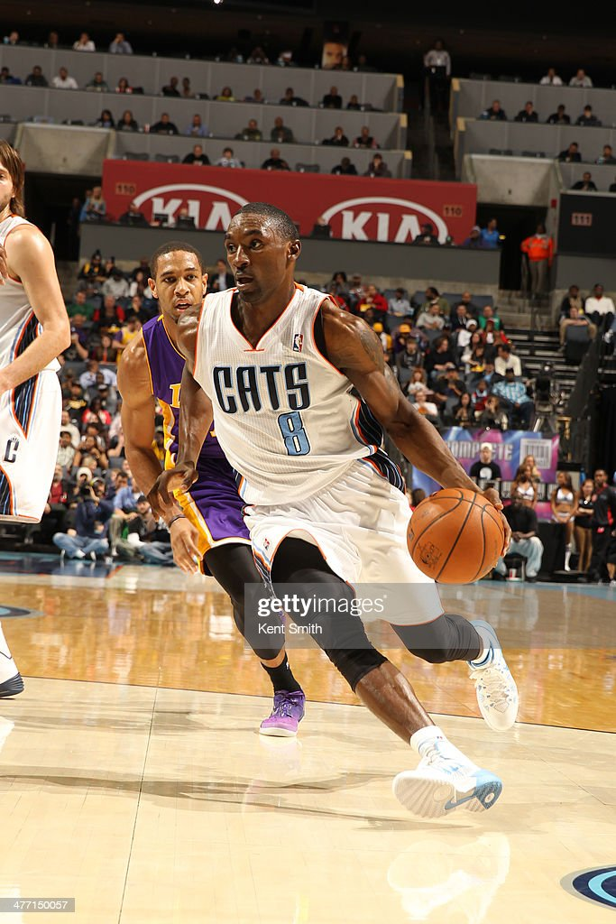 <a gi-track='captionPersonalityLinkClicked' href=/galleries/search?phrase=Ben+Gordon&family=editorial&specificpeople=202181 ng-click='$event.stopPropagation()'>Ben Gordon</a> #8 of the Charlotte Bobcats drives to the basket against the Los Angeles Lakers during the game at the Time Warner Cable Arena on December 14, 2013 in Charlotte, North Carolina.