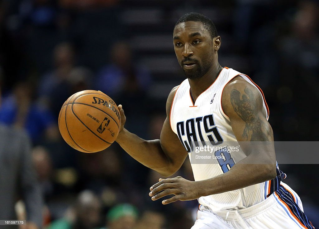 Ben Gordon #8 of the Charlotte Bobcats during their game at Time Warner Cable Arena on February 11, 2013 in Charlotte, North Carolina.