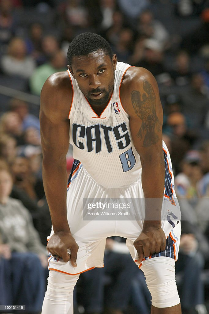 Ben Gordon #8 of the Charlotte Bobcats looks on during the game against the Minnesota Timberwolves at the Time Warner Cable Arena on January 26, 2013 in Charlotte, North Carolina.