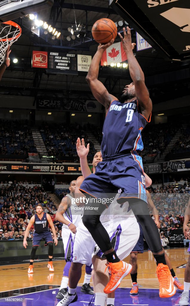 <a gi-track='captionPersonalityLinkClicked' href=/galleries/search?phrase=Ben+Gordon&family=editorial&specificpeople=202181 ng-click='$event.stopPropagation()'>Ben Gordon</a> #8 of the Charlotte Bobcats shoots against the Sacramento Kings on March 3, 2013 at Sleep Train Arena in Sacramento, California.