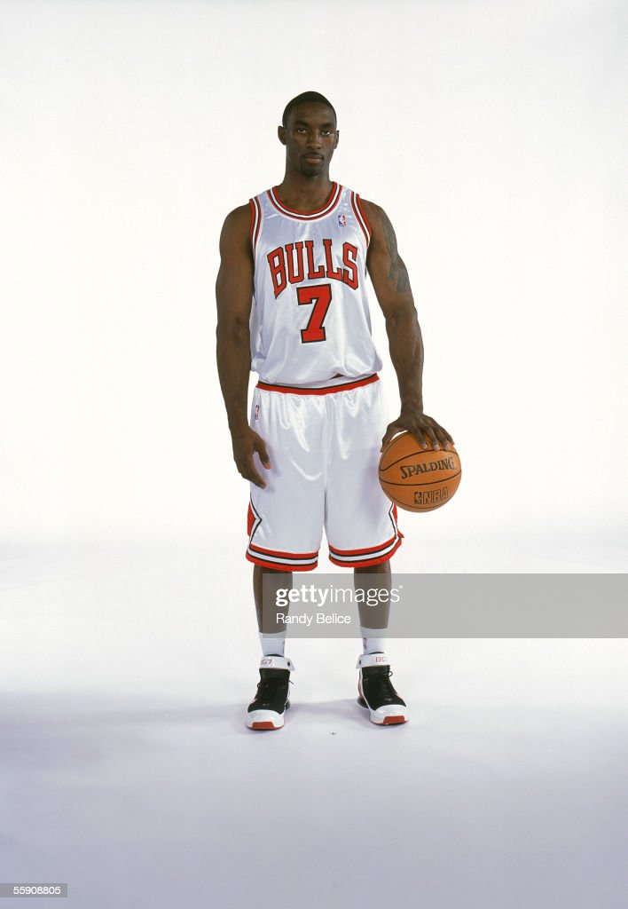 Ben Gordon #7 of the Chicago Bulls poses for a portrait during Media Day at the Sheri L. Berto Center practice facility on October 3, 2005 in Deerfield, Illinois.