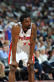 Ben Gordon of the Detroit Pistons during a game against the Toronto Raptors in a game at the Palace of Auburn Hills on April 12 2010 in Auburn Hills...