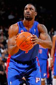 Ben Gordon of the Detroit Pistons shoots a free throw during the game against the Golden State Warriors on February 27 2009 at Oracle Arena in...