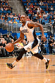 Ben Gordon of the Orlando Magic drives to the basket against the Phoenix Suns during the game on March 4 2015 at Amway Center in Orlando Florida NOTE...