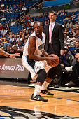 Ben Gordon of the Orlando Magic handles the ball against the Denver Nuggets on March 22 2015 at Amway Center in Orlando Florida NOTE TO USER User...