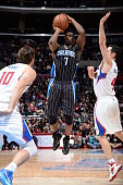 Ben Gordon of the Orlando Magic shoots against the Los Angeles Clippers on December 3 2014 at Staples Center in Los Angeles California NOTE TO USER...