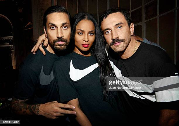 Ben Gorham Ciara and Riccardo Tisci attend the Nike x Riccardo Tisci Air Force 1 Beige Collection launch party at Casino De Madrid on September 14...