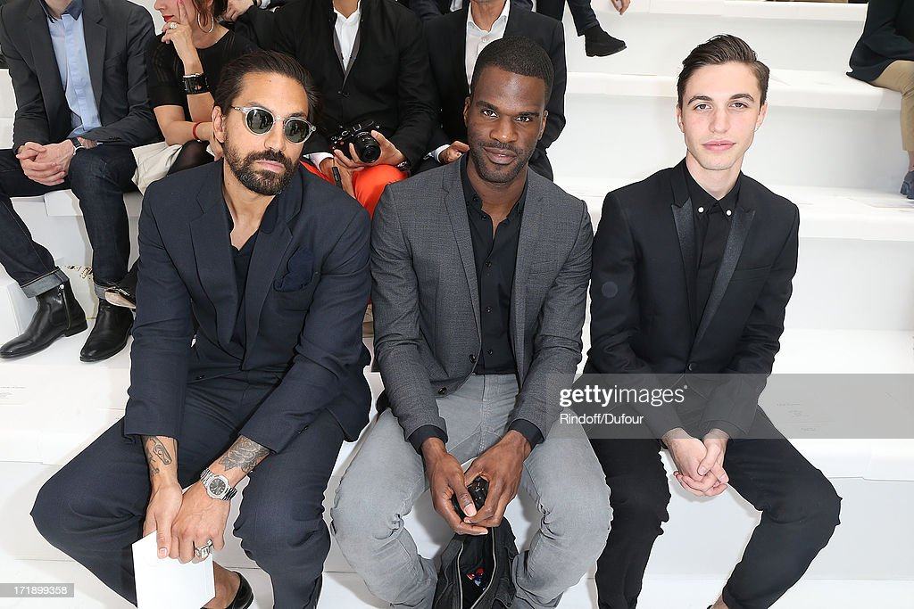 Ben Gorham, guest and Alex Fleming aka Black Atlass attend Dior Homme Menswear Spring/Summer 2014 Show As Part Of The Paris Fashion Week on June 29, 2013 in Paris, France.