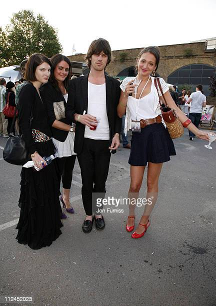 Ben Grimes and Jackson Scott attend the launch party of Nokia Skate Almighty at South Bank on July 10 2008 in London England